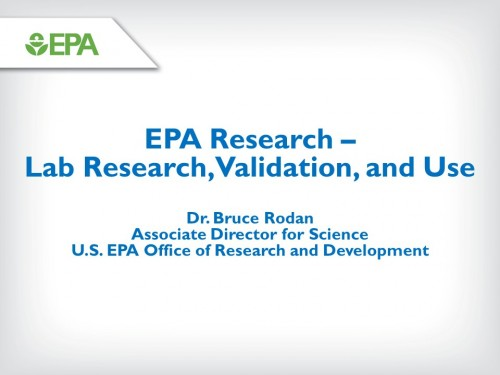 EPA Research Presentation by Dr. Bruce Rodan
