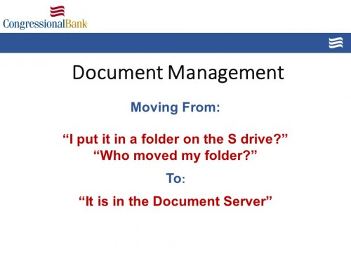 Document Management Presentation by Michael Matthews